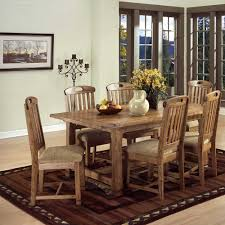Rustic Dining Room Table And Chairs by Rustic Oak 7 Piece Dining Set By Sunny Designs Wolf And Gardiner
