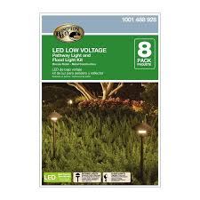 Malibu Flood Light Kit by Amazon Com Low Voltage Led Bronze Outdoor Light Kit 8 Pack
