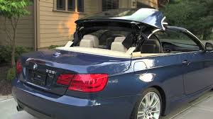 bmw beamer blue retractable hardtop for 2012 bmw 335i convertible youtube