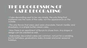 History Of Cake Decorating Cake Decorating By Sydney Perry Ppt Online Download