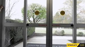 troubleshooting stanley automatic sliding doors youtube