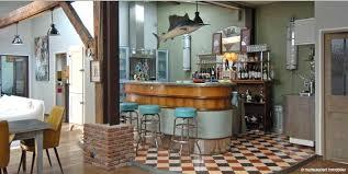 deco retro cuisine deco bar vintage idées décoration intérieure