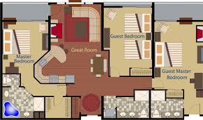 Spacious 3 Bedroom House Plans Three Bedroom Floor Plans Cape Codder Residence Club Floor Plans