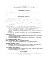 business analyst resume exles data analyst resume