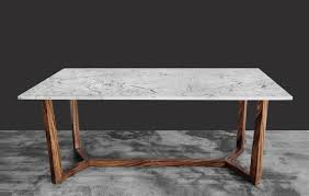 Marble And Wood Dining Table Greyhammer Furniture Architect Solid Wood Marble U0026 Veneer