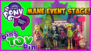 Rainbow Playset Equestria Girls Rainbow Rocks Mane Event Stage Playset Review By