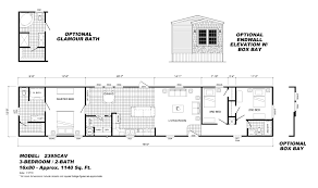 sectional mobile home floor plan the 6643 spring view destiny