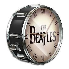 amazon com the beatles black pearl drum wall clock by the