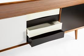 Mid Century Console Table Black White Mid Century Credenza Modern Furniture Brickell