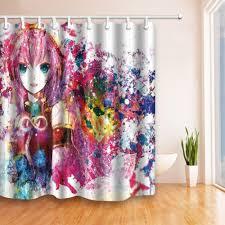Fashion Shower Curtains 2017 New Digital Printing Anime 180 180cm Europe American