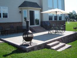 how to build a raised patio with pavers home outdoor decoration