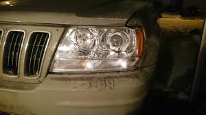 modded white jeep jeep grand cherokee wj w g35 coupe modded projectors hidplanet