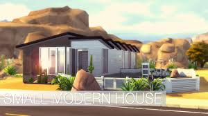 Mid Century Modern Tiny House by Sims 4 Speed Build Small Modern House Youtube
