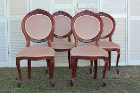 Antique Reproduction Dining Chairs Mushroom Pink Antique Style Dining Chairs Moments In Vintage