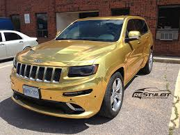 gold jeep cherokee gold chrome jeep grand cherokee srt8 vehicle customization shop