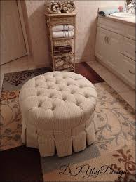 Padded Storage Ottoman Furniture Wonderful Small Round Upholstered Ottoman Home Goods