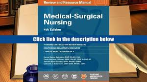 audiobook medical surgical nursing review and resource manual 4th