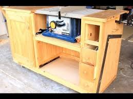 table saw workbench plans diy table saw workstation part 1 youtube