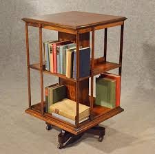 Revolving Bookcase Table Antique Oak Revolving Bookcase Library Stand Quality English