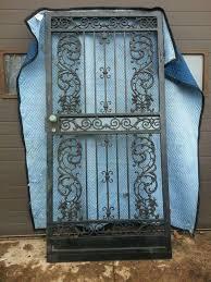 wrought iron ornamental security gate door building supplies