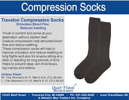 Compression socks quiet travel sound gear