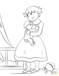 mother hugging her child coloring page free printable coloring pages