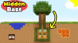 minecraft tutorial how to make an underground tree base