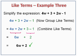 combining like terms passy u0027s world of mathematics
