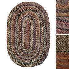 forester multicolored braided reversible wool rug usa made 4 u0027 x