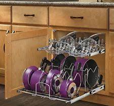 Kitchen Cabinet Pot Organizer Rev A Shelf Kitchen Pot Racks Ebay