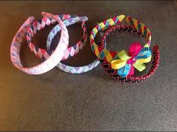 ribbon headbands how to make a diamond style woven headband out of ribbon