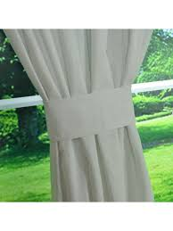 Natural Linen Curtain Fabric Qyk246sag Eos Linen Natural Solid Concealed Tab Top Sheer Curtains