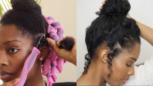 curlformers heatless updo on fine natural hair love your tresses