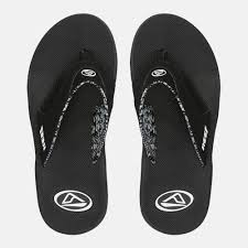 reef fanning flip flops womens shop black reef fanning sandals for womens by reef sss