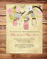 jar bridal shower invitations vintage lace rustic bridal shower invitation shab chic wedding