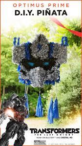 optimus prime pinata transformers party ideas diy optimus prime pinata