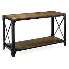 standard furniture hudson contemporary 2 shelf console table with