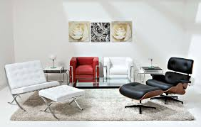 furniture minimalist living room with black eames lounge chair