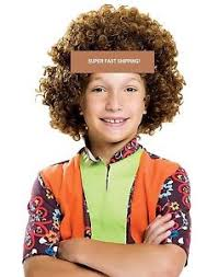childrens boys hairstyles 70 s children s kids brown afro wig curly afro wig 70s 60 party hair