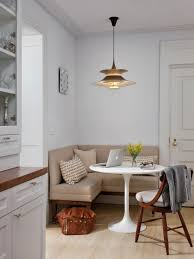 transitional kitchen ideas with l shape banquette dining space