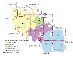 map of hattiesburg ms service area map pearl river valley electric power association