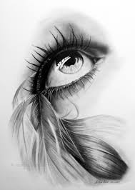 feathered eye by witchiart on deviantart