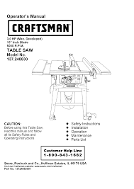craftsman saw 137 248830 user guide manualsonline com