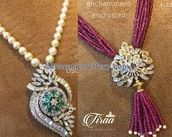 bead necklace with pendant images Diamond pendants with pearl ruby beads strings pinterest jpg