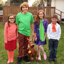 Halloween Scooby Doo Costumes Group Family Halloween Costumes Scooby Doo Costumes
