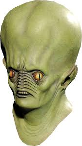 andromeda green alien mask resurrection in ufo space alien