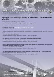 residual load bearing capacity of reinforced concrete frames after