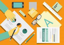 Graphic Designer Desk Free Vector Designers Desk Illustration Download Free Vector Art