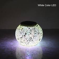 Ball Solar Lights - hallomall color changing mosaic garden solar light waterproof