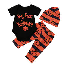 my 1st halloween baby clothes my first halloween baby boy pumpkin romper jumpsuit pants